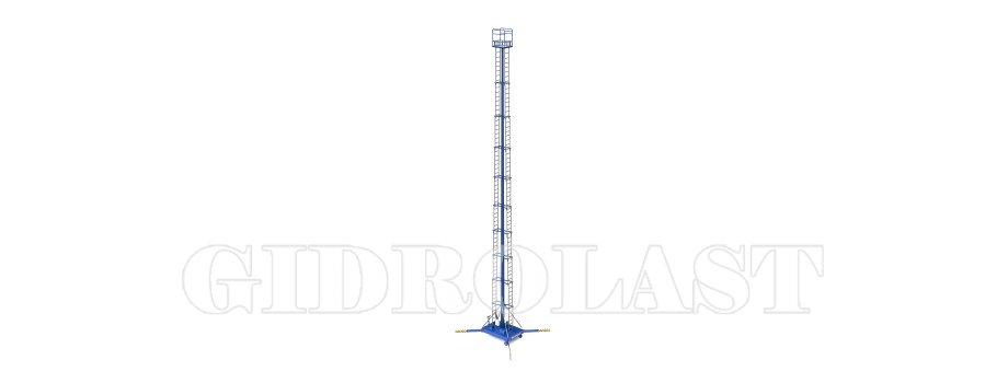 Mobile telescoping hydraulic lift platform
