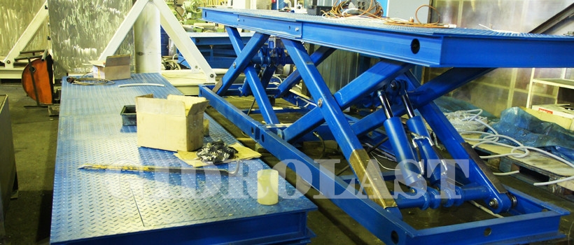 Scissor lifts for paint booth 1D